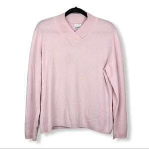 Investments Elle 100% Cashmere Sweater Pink XL